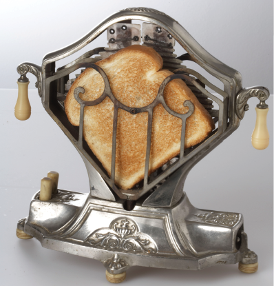 """The """"Sweetheart"""" toaster by Landers, Frary & Clark was made and sold in the late 1920s."""