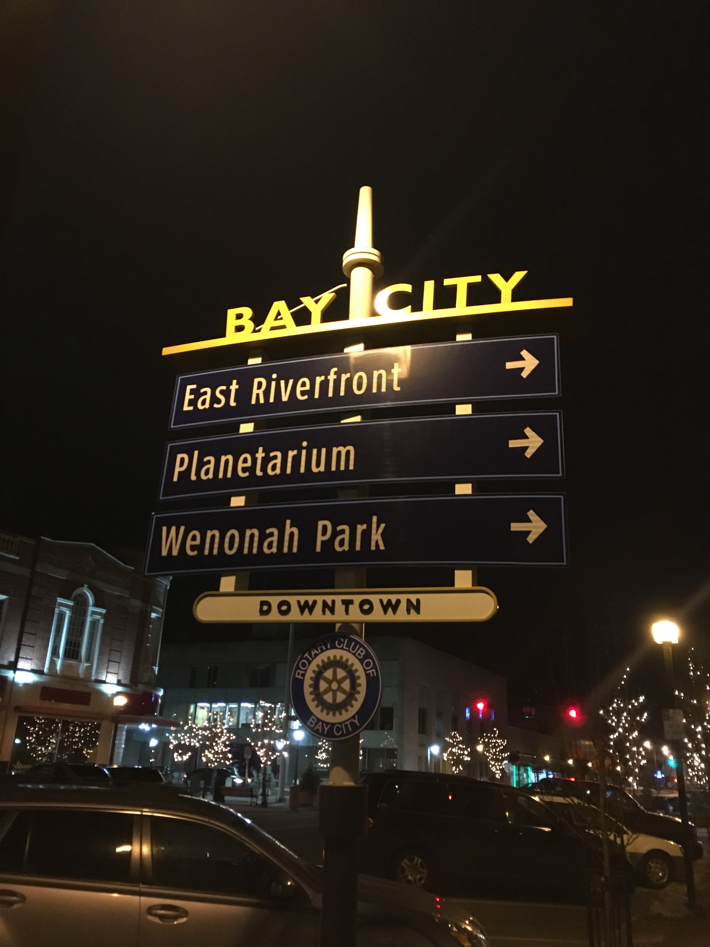 Directions in downtown Bay City. Photo by Nicole Serra