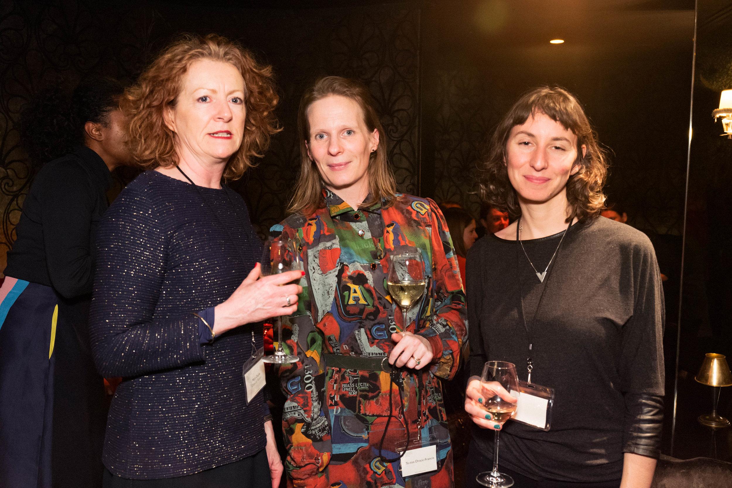 Mary Doyle, Teresa Drace-Francis and Laura Castagnini