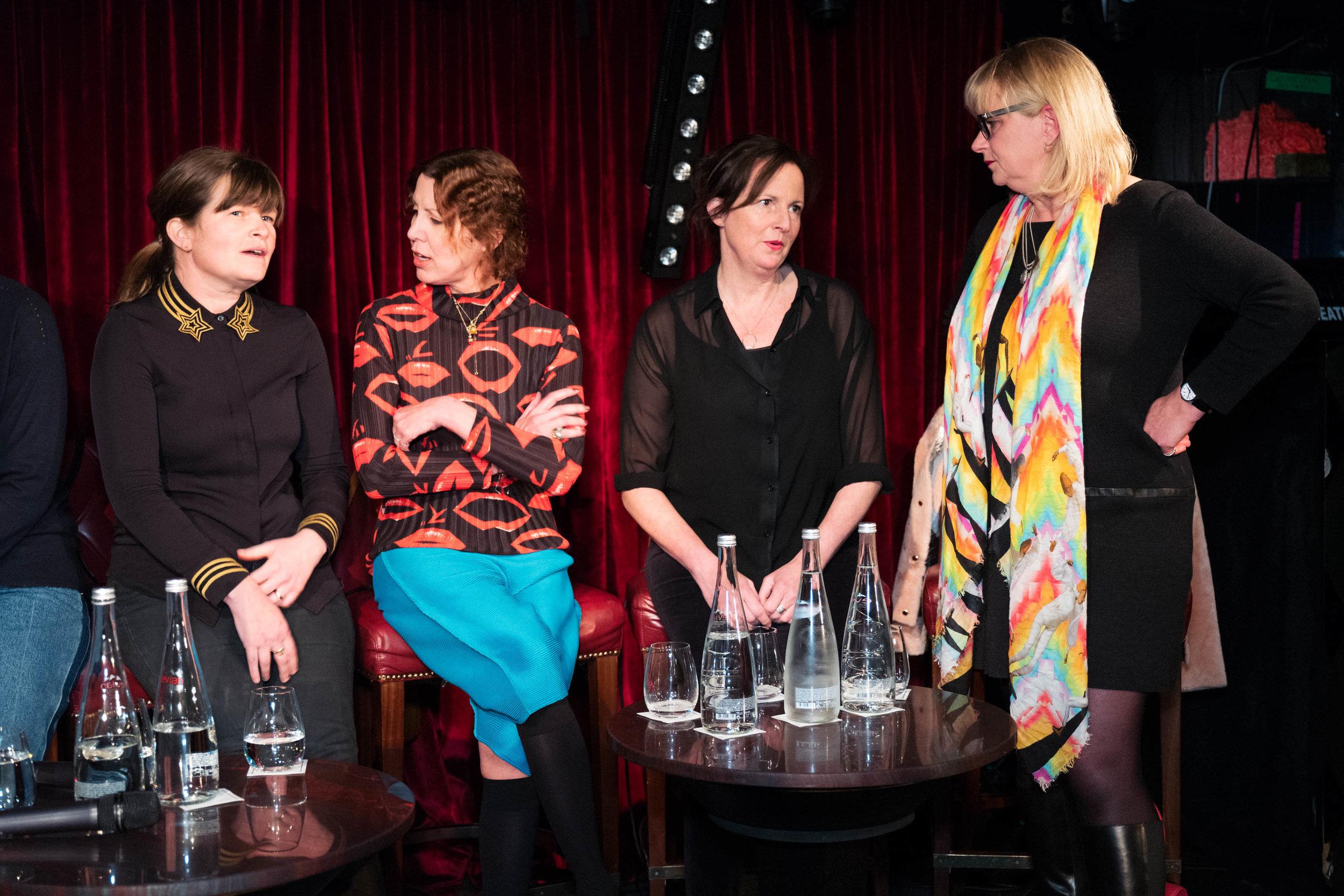 Kate MacGarry, Valeria Napoleone, Margot Heller and Louisa Buck