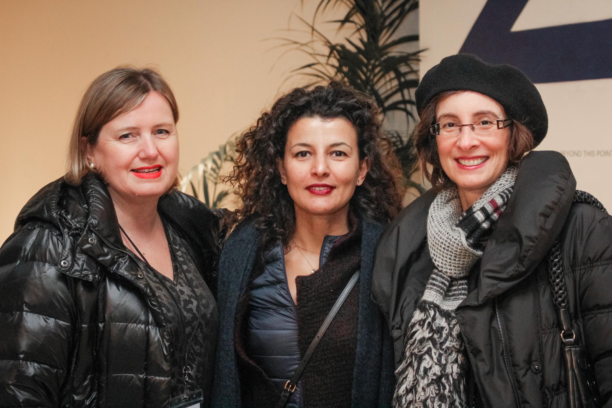 Julie Lomax, Fatoş Üstek,and Tina Sotiriadi