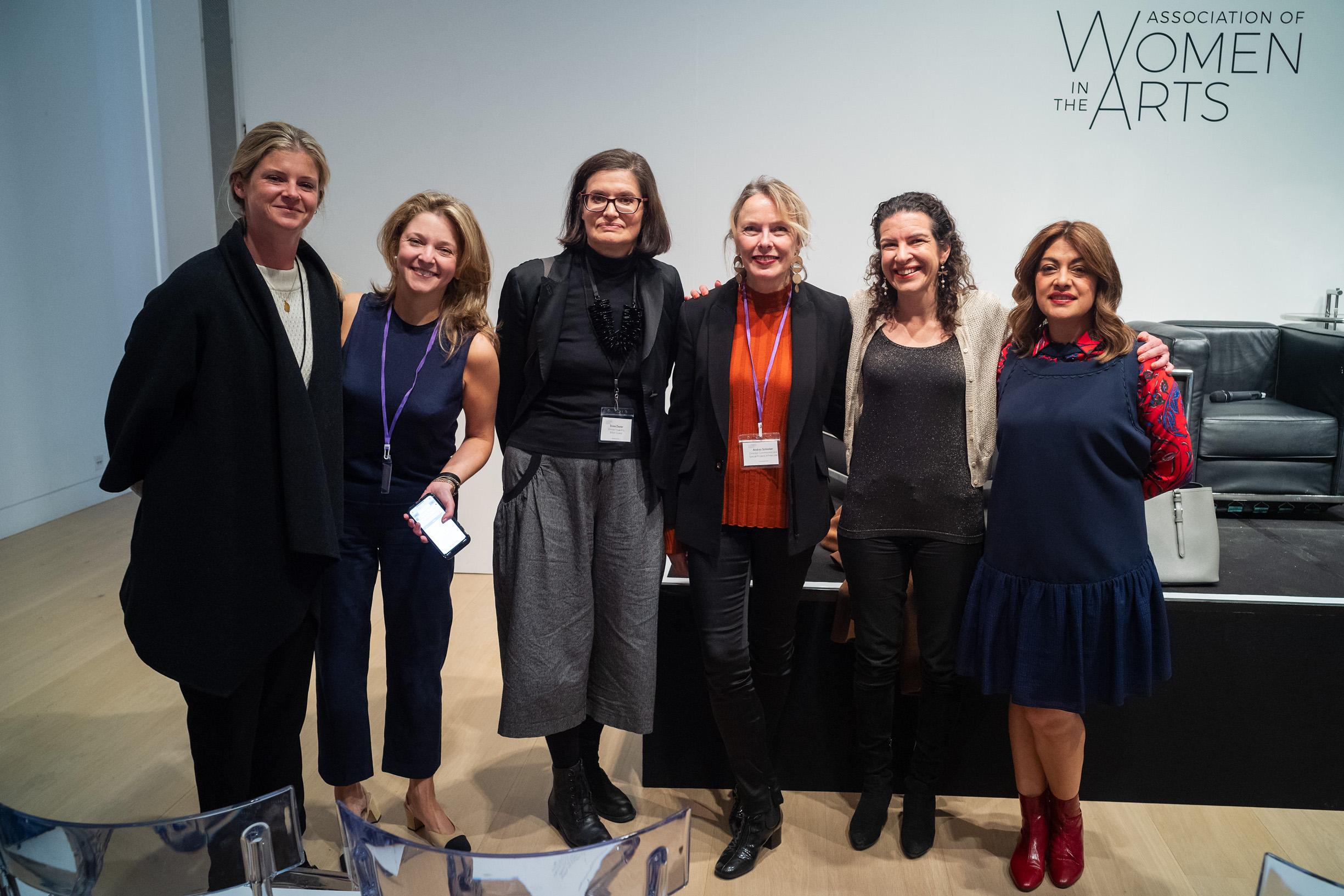 Aurore Ogden, Kate Gordon, Emma Dexter, Andrea Schlieker, Melanie Gerlis and Nazy Vassegh