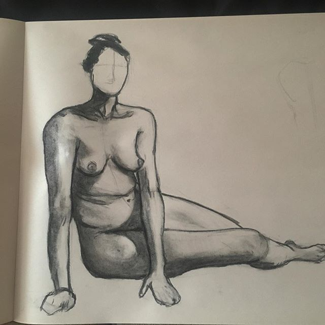 Sketch from last night.  #charcoal #figuredrawing #nudeart #practice #chicago #art #drawing #sketch