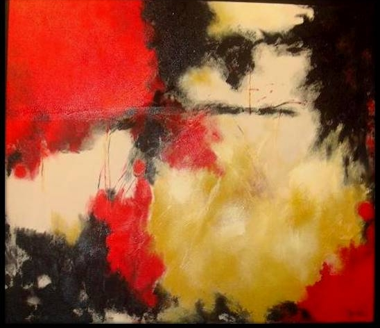 """Consumed 2007  Painting Created after her late brother  Juan """"Johnny"""" Lara."""