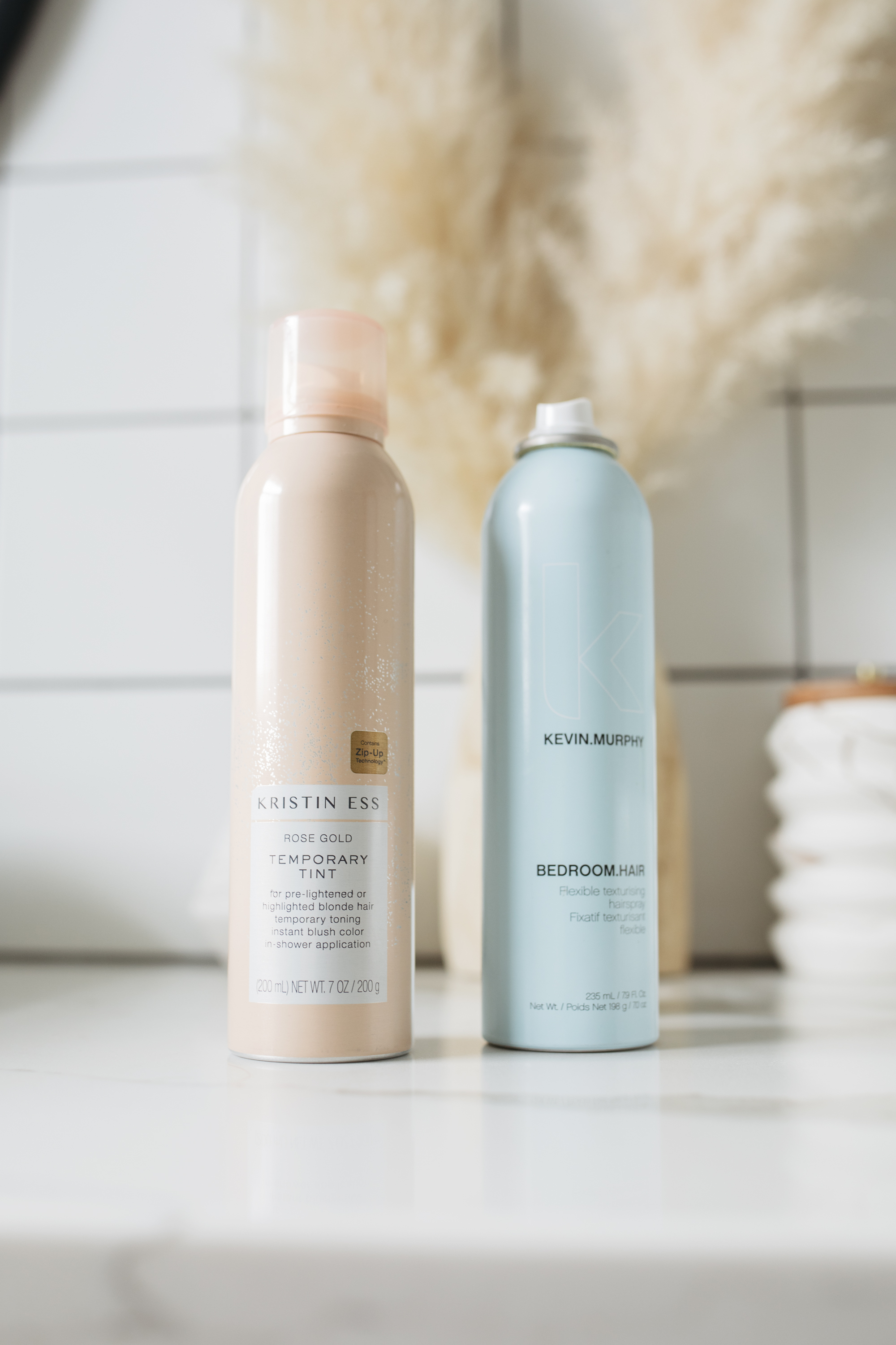 These are some of my favorite products for colored hair. They help your hair maintain it's rose gold color and shine through the week