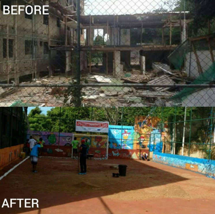 4 workdays. 2,000+ hours of sweat equity. 150 amazing volunteers. Three months later, this is what the community of Santa Marta in Rio de Janeiro, Brazil has achieved.
