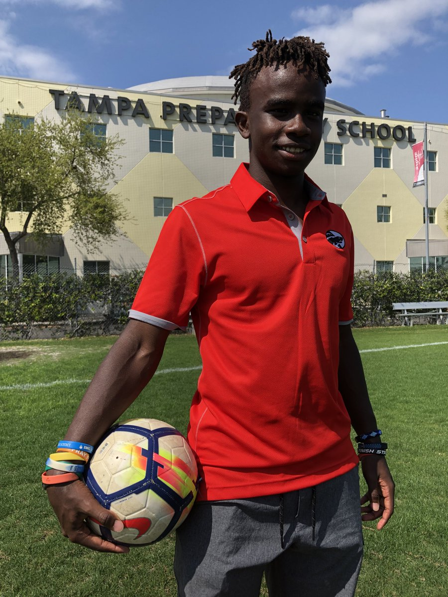 Jordan is looking forward to playing the first of many games on the new pitch with the children of Sokoni 1.
