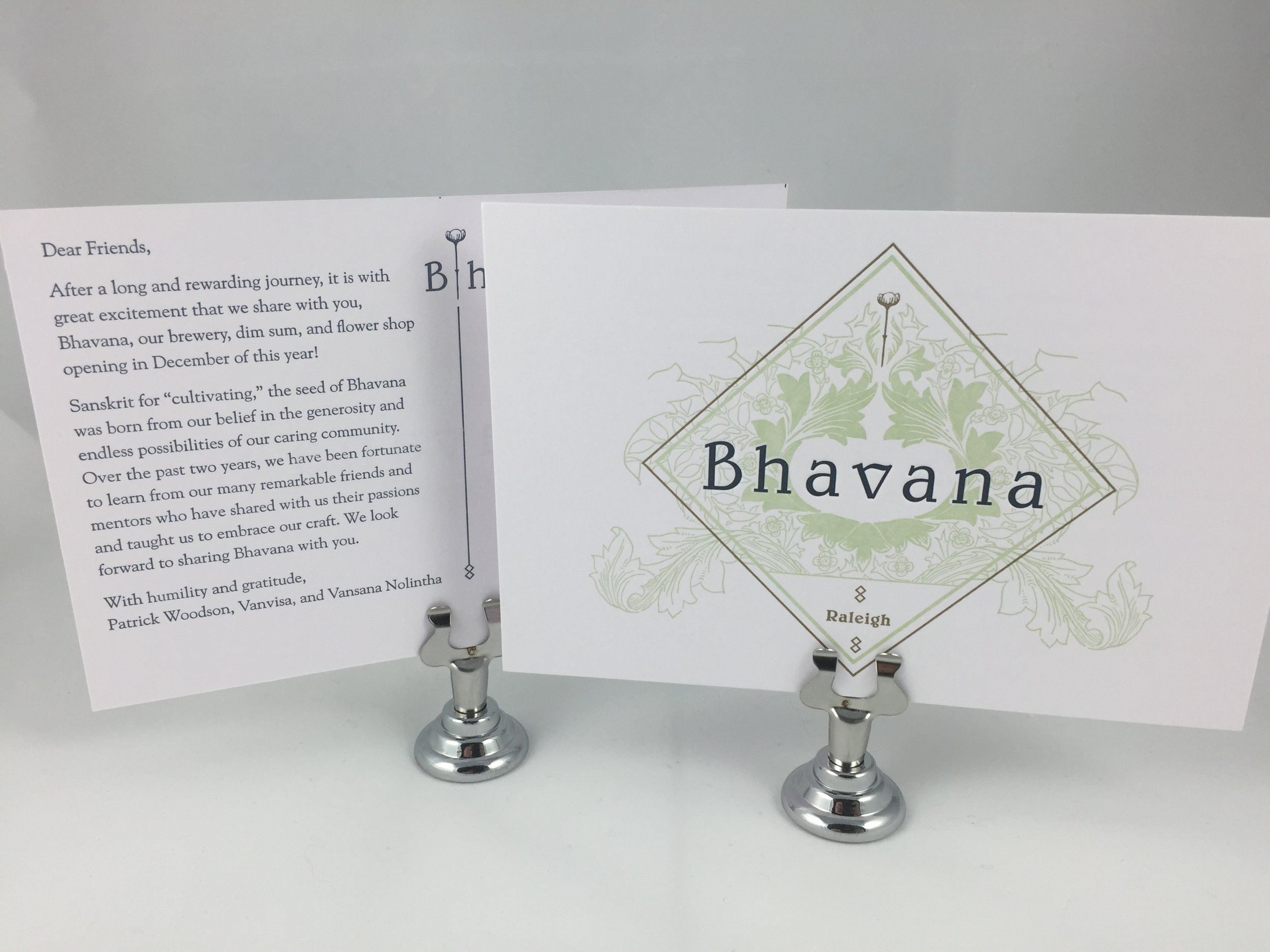 Bhavana letterpress postcard
