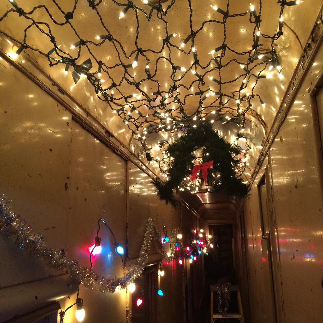Train hallway set    Killer Raccoons! 2! Dark Christmas in the Dark!