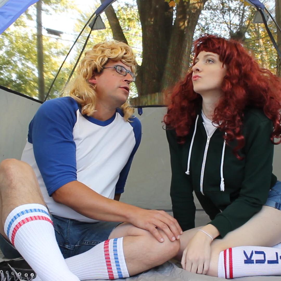 Garrett and his girlfriend