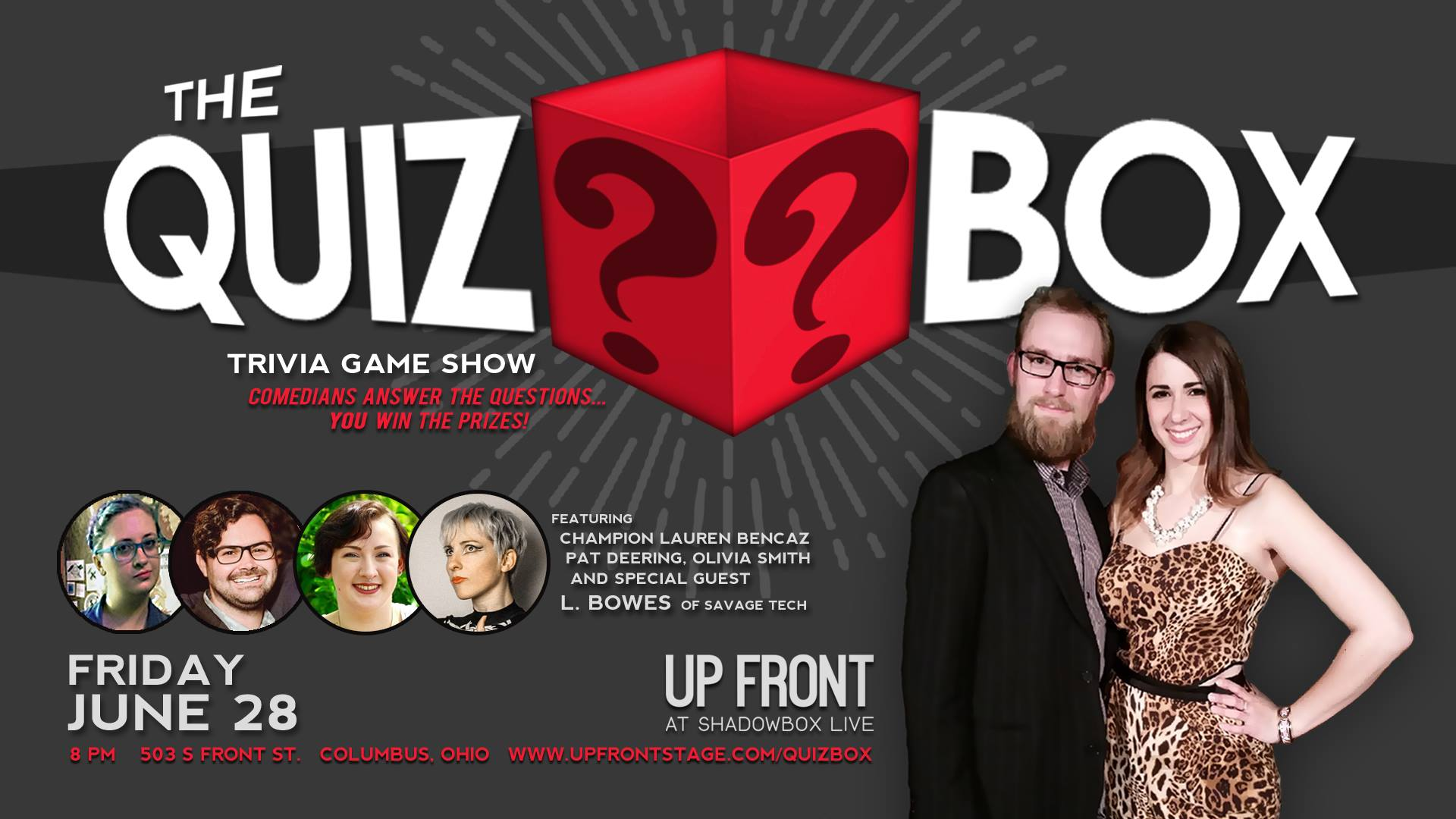 The Quiz Box - June 2019  | 6/28 @ 8PM | Up Front at Shadowbox Live