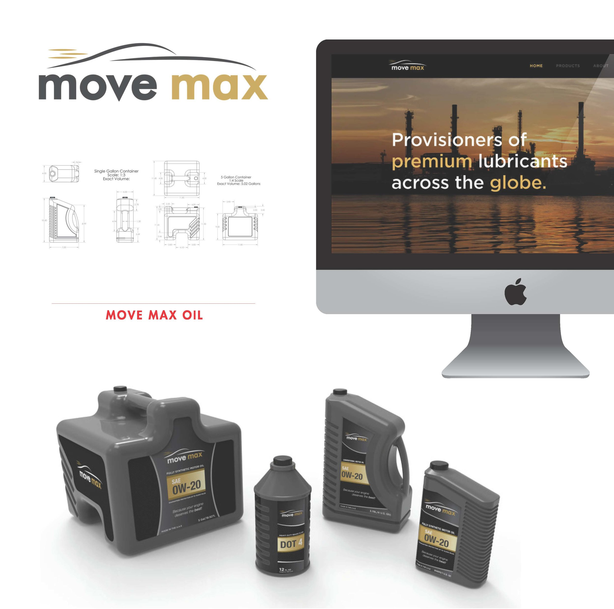 Some work from our first client MoveMax Oil.