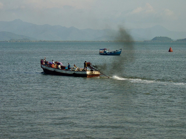 Kawthoung Boat Traffic