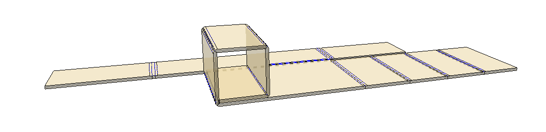 - 2. Fold each panel from one side 90 degrees until the pad makes a complete square.