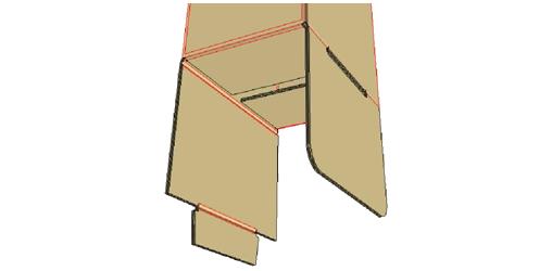 Fold in bottom side flaps -