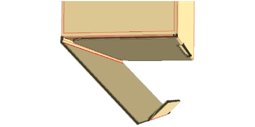Fold in flap with locking tab. Insert locking tab into slot to close the bottom of the box. -