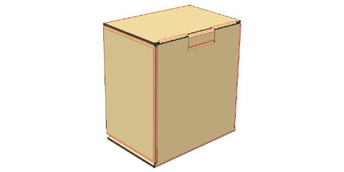 Insert locking tab into slot to close the box. -