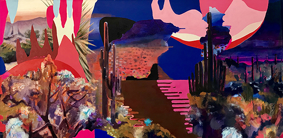 "Pacific Crest Trail-Anza Borrego Psychedelic Desert , 24""x48"" oil on canvas.  SOLD"