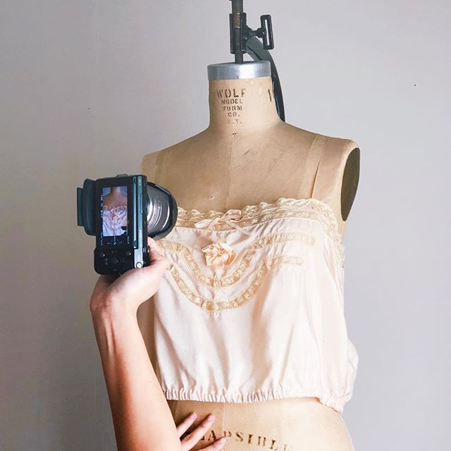 Shooting another collection! More photos to come! #vintageshop #vintagelingerie