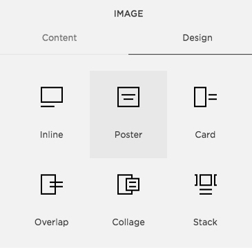 these are the Squarspace image options -