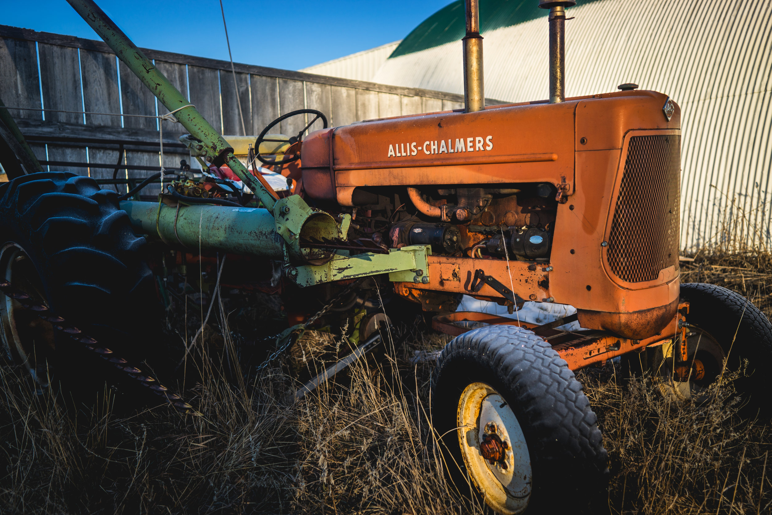 Old Allis Chalmers Tractor on the Ravenscroft Ranch