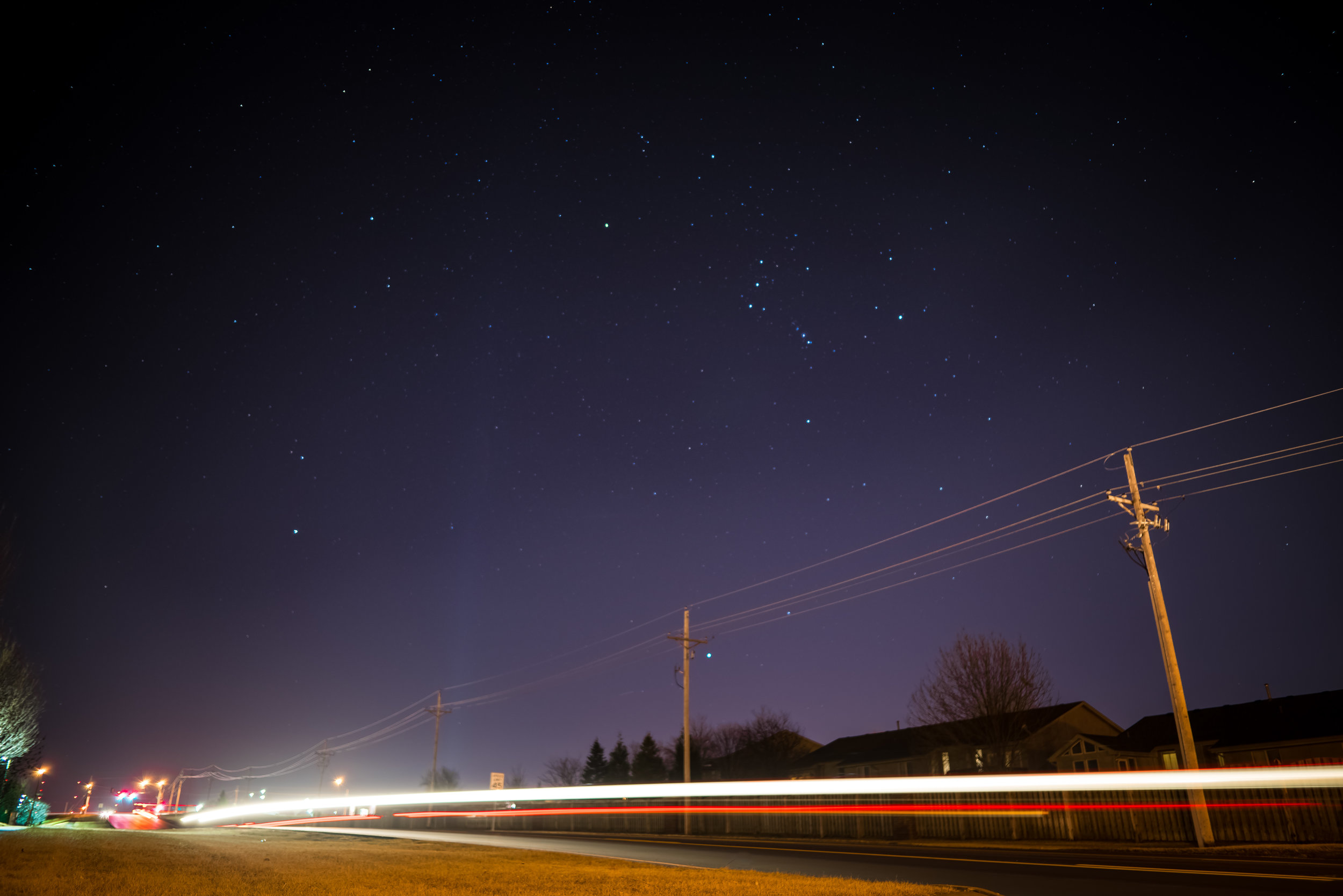 night long exposure omaha nebraska car trails