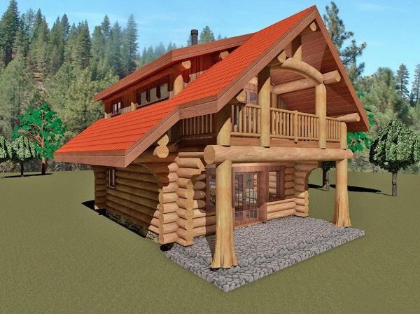 Log-Home-Made-In-Ontario-Canada-2-storey Design-Facing-Front-And-Left-Side-Of-House-The-Riverside-Cabin.jpg
