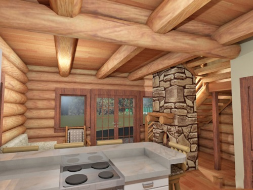 Log-Home-Made-In-Ontario-Canada-The-Riverside-Cabin-Log-Homes-Interior-Facing-Living-Room-From-Kitchen-Area.jpg