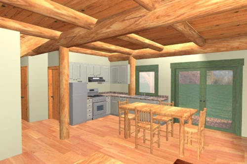 Log-Home-Built-In-Ontario-Canada-Interior-Facing-Kitchen-And-Dining-Area-In-With-Window-Double-Glass-Door-And-Hardwood-Floor-The-Fraser-Cabin-Post-And-Beam-Option.jpg