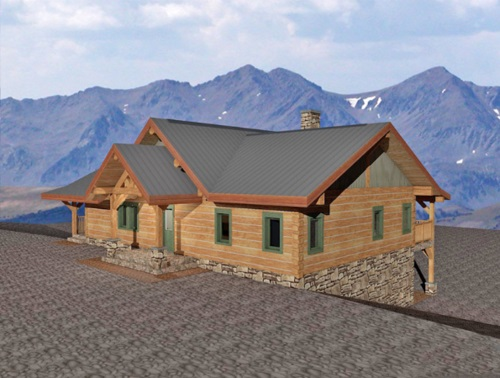 Log-Home-Built-In-Ontario-Canada-Split-level-Bungalow-Log-Home-With-Basement-Facing-Front-And-Side-Of-House-The-Barrier-Cabin-Square-Timber-Option.jpg