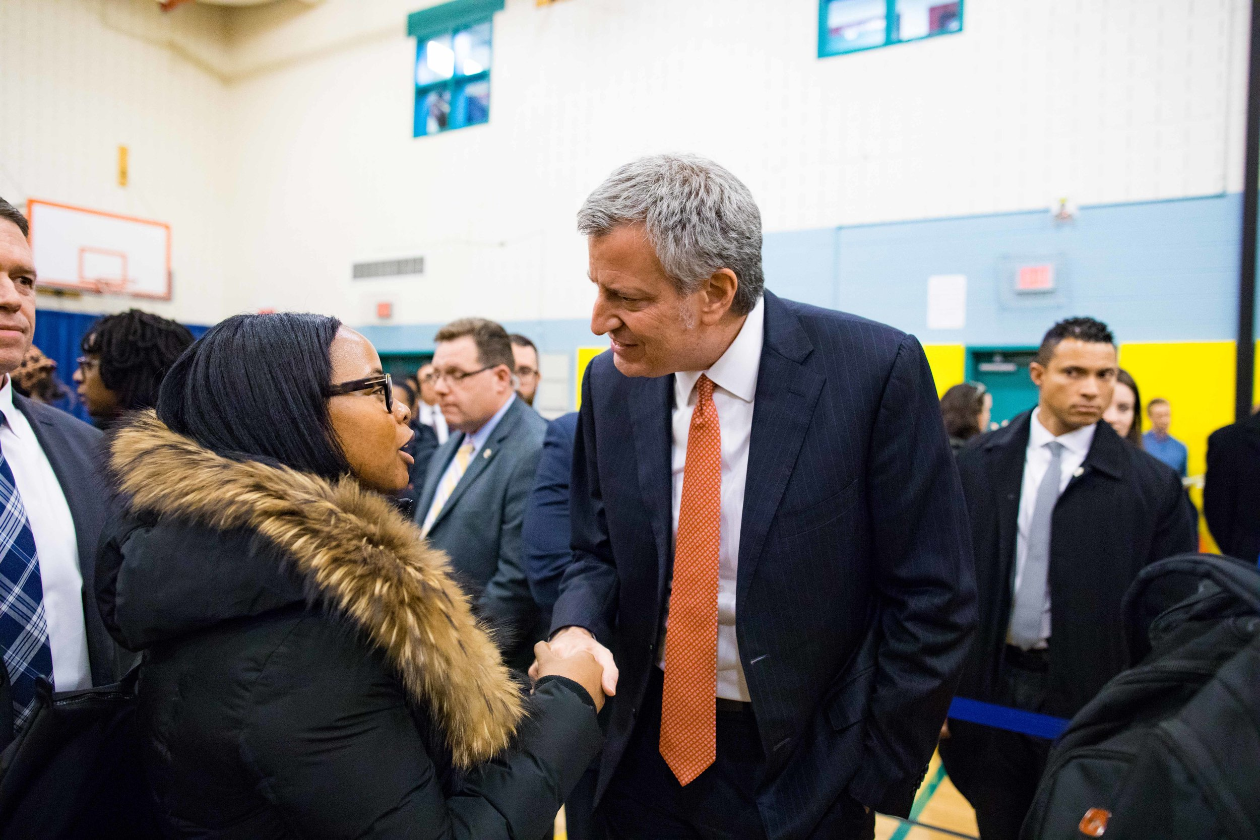 Social Work / Community Organizing intern Tiffany Noboa meets with the mayor to discuss the lack of co-sheltering options for people experieincing homelessness with animals in NYC.