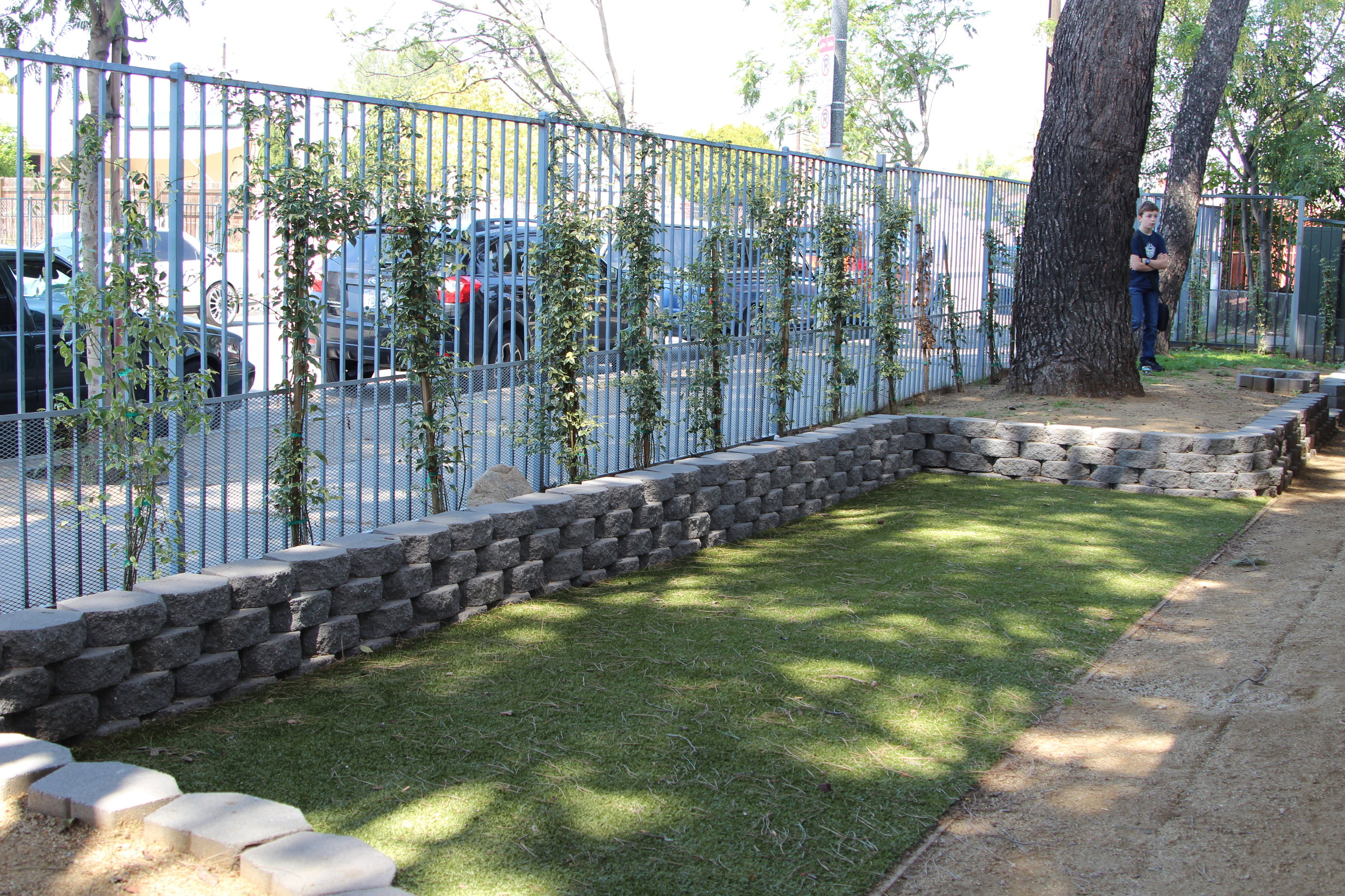 LA Family Housing's newly renovated dog park.