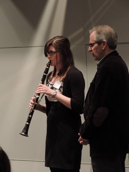 Performing on a masterlcass with Dr. Frank Kowlasky