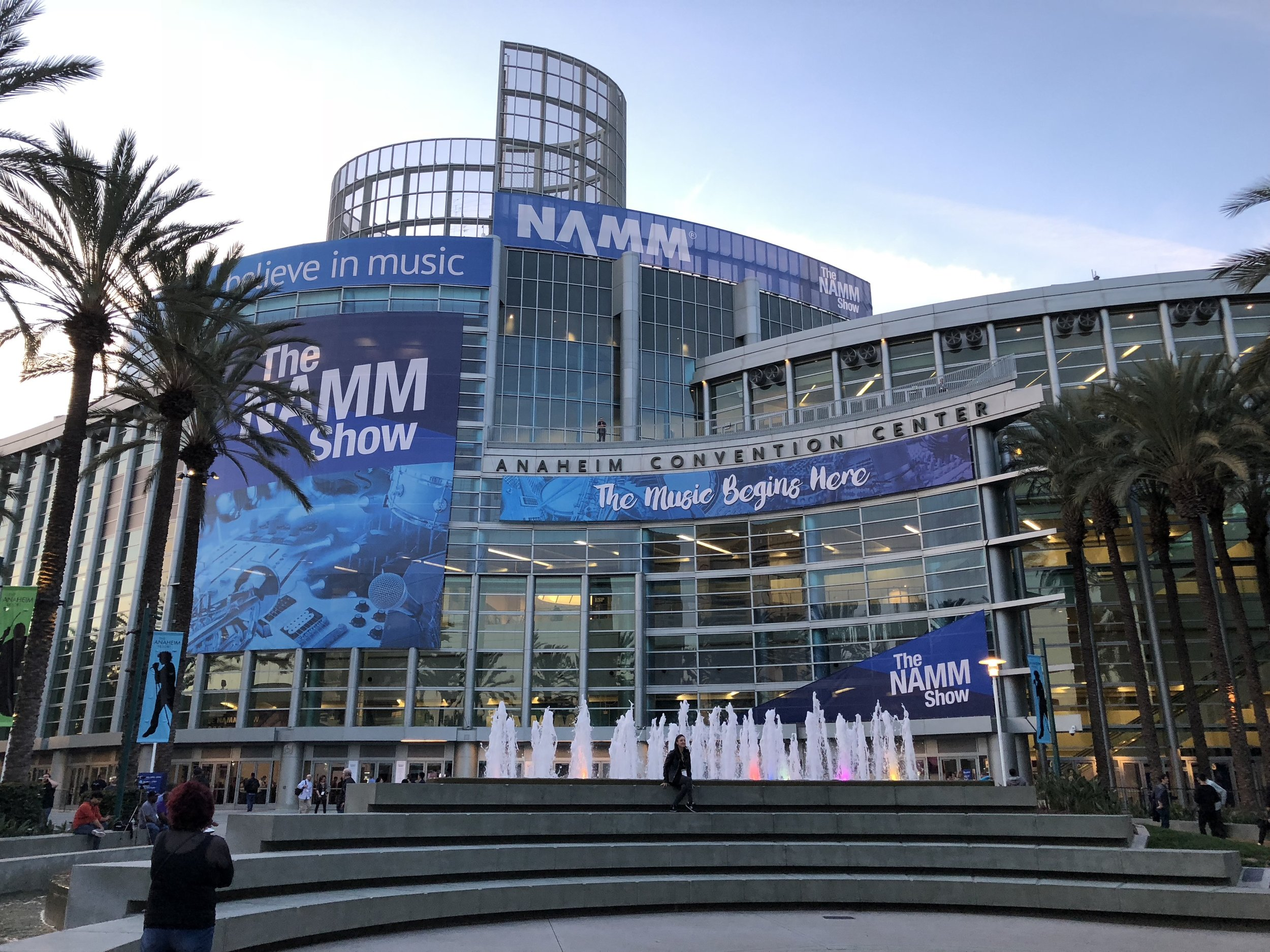 Outside the Anaheim Convention Center on the eve of The 2018 NAMM Show!