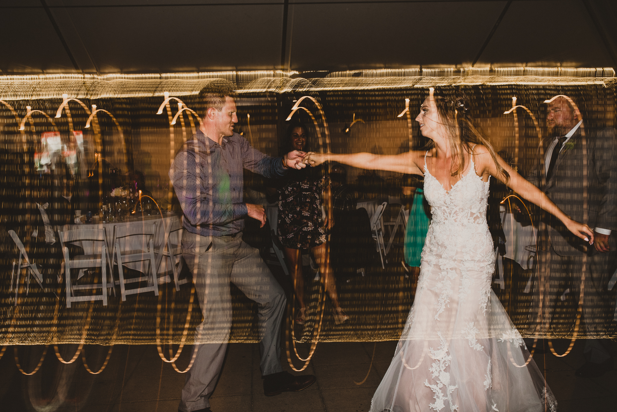 reception dance floor bride