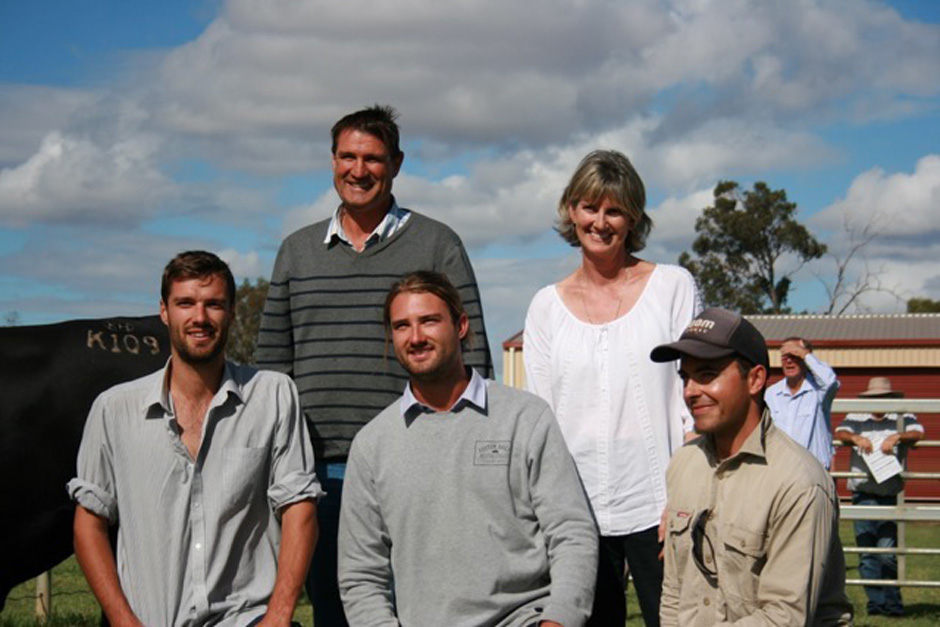 Our team at Koojan Hills includes Tim, Richard, Chris and Christine Metcalfe and farm manager Cody Shilling