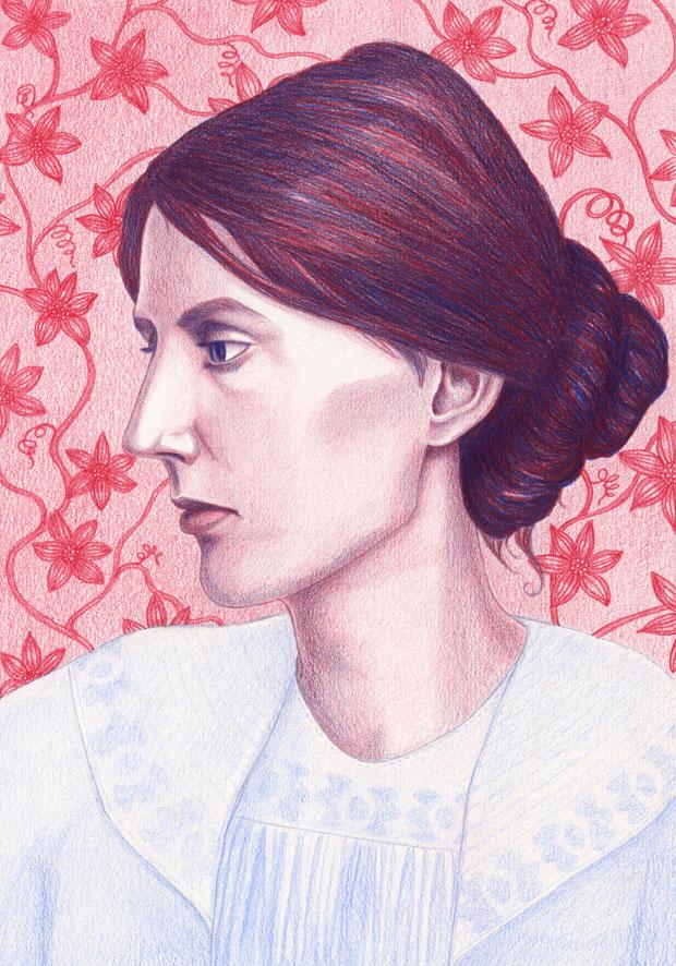 my final illustration of Virginia Woolf