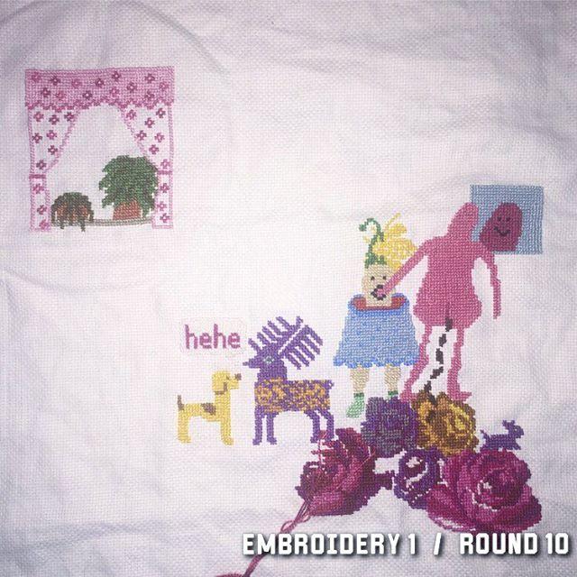 6/1 2018 #wip #stafettbroderi #broderibattle #korsstygn #broderi #embroidery #crosstitch #nilssonnilsson #textile #textileart
