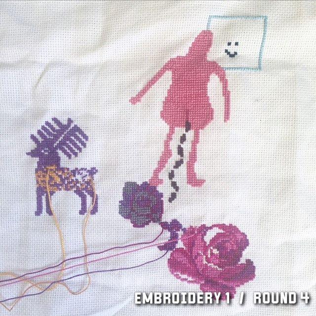 1/10 2017 #wip #stafettbroderi #broderibattle #korsstygn #broderi #embroidery #crosstitch #nilssonnilsson #textile #textileart