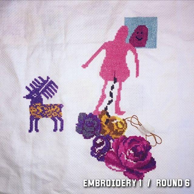 17/10 2017 #wip #stafettbroderi #broderibattle #korsstygn #broderi #embroidery #crosstitch #nilssonnilsson #textile #textileart