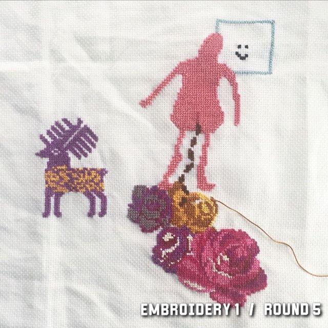 7/10 2017 #wip #stafettbroderi #broderibattle #korsstygn #broderi #embroidery #crosstitch #nilssonnilsson #textile #textileart