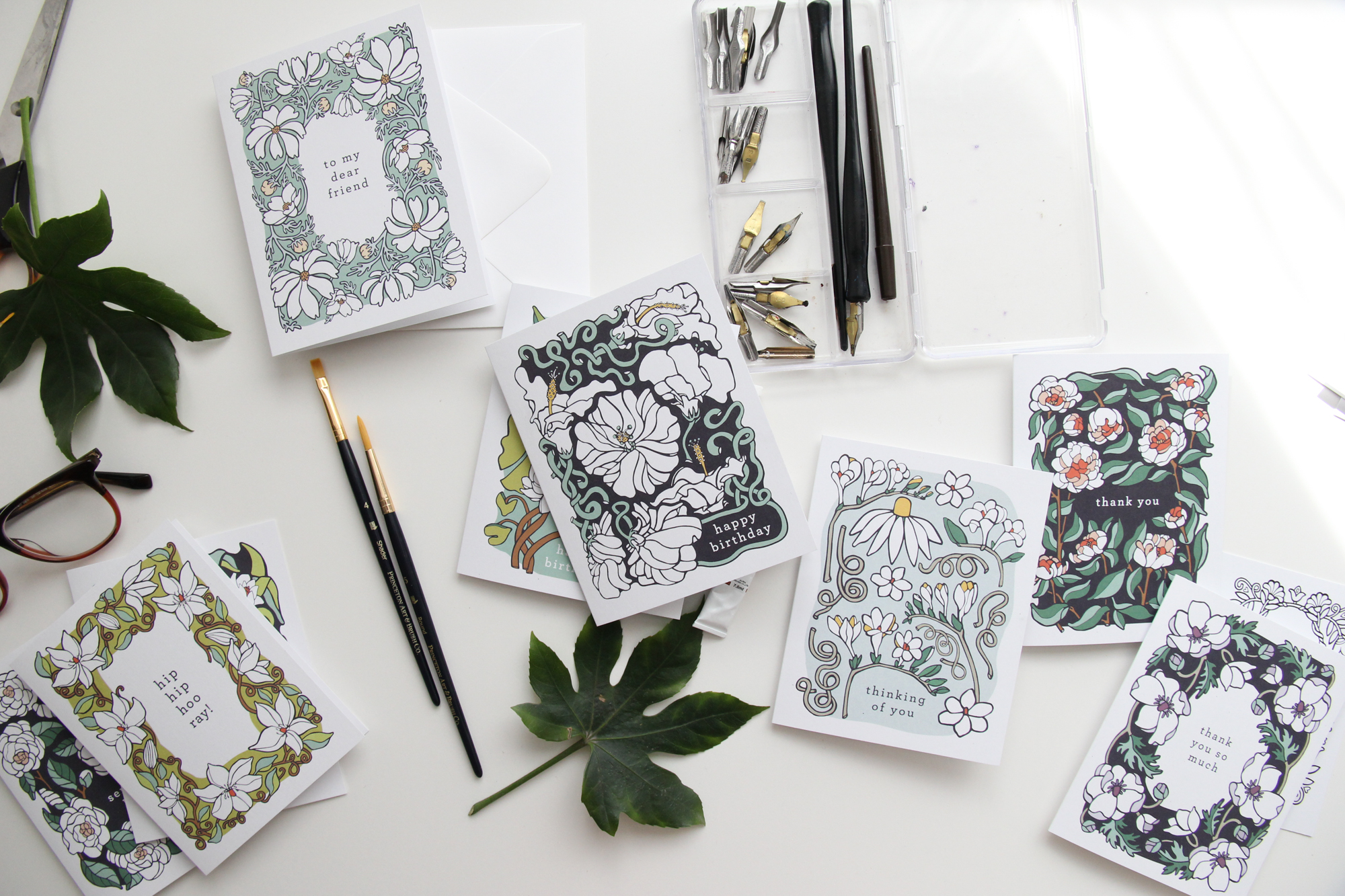 Greeting Cards by Jessie Tyree Jenness for Root & Branch Paper Co.