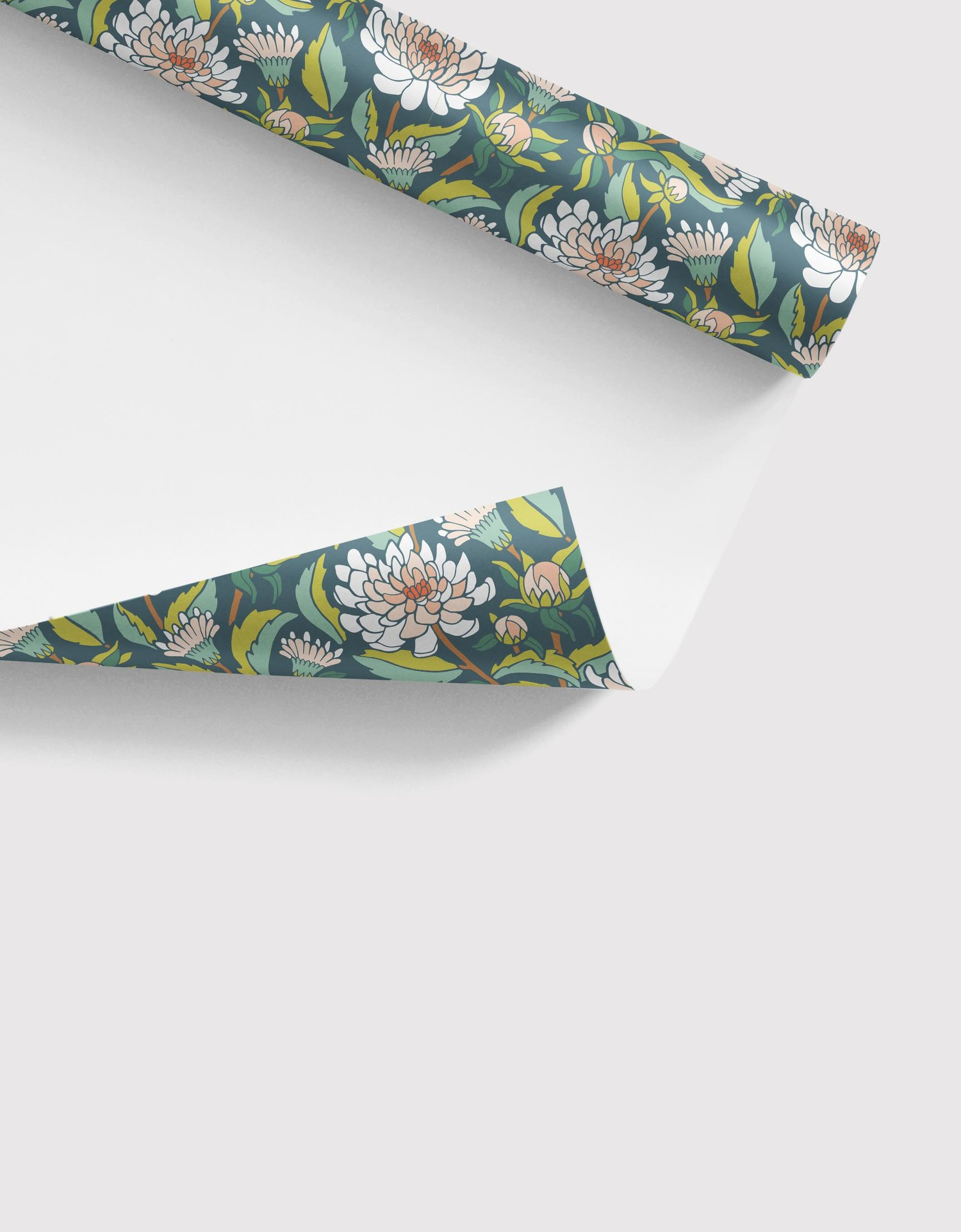 Dahlia Garden Gift Wrap Sheets by Jessie Tyree Jenness for Root & Branch Paper Co.
