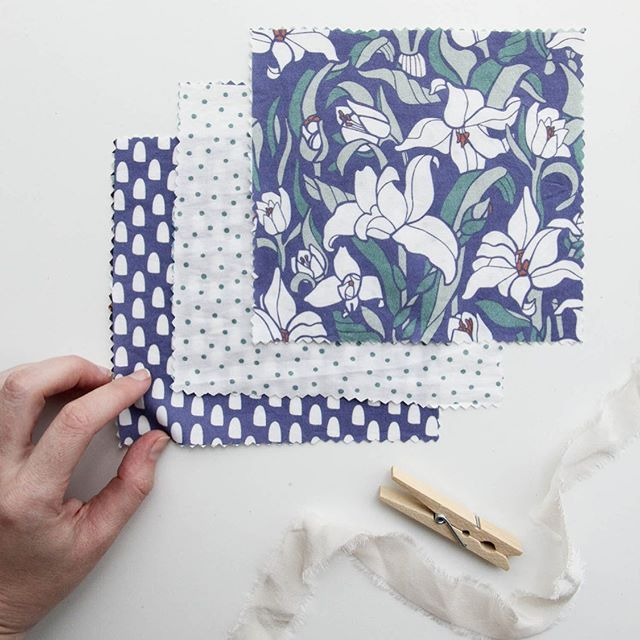 New pattern collection!! 🌿 This one features a few of our Chinese-inspired florals including chrysanthemums, lotuses, and lilies, re-imagined in new color palette of blues, teals, and a pop of bright corals. Swipe for a peek at the other prints and some of the inspiration! All these patterns are listed in our @spoonflower shop ☀️ Haven't decided on a name yet, any ideas?