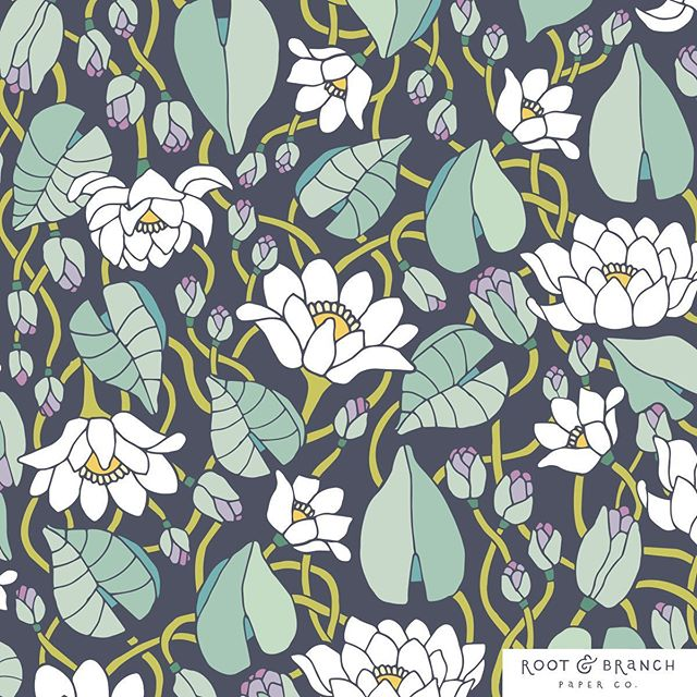 Moonlit Lotus 🌙🌿 #rootandbranchpatterns