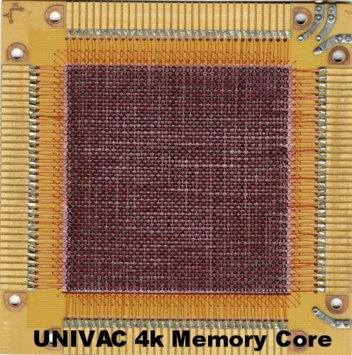 UNIVAC 4k Magnetic Core Memory (RAM)