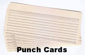 Hollerith Computer Programming/Data Punch Cards