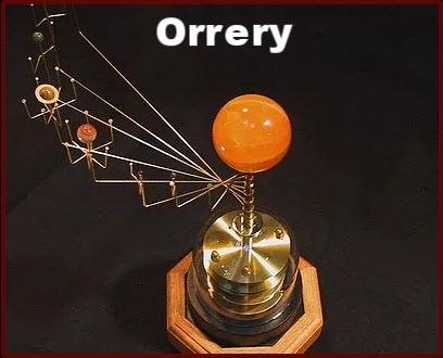 Orrery Solar System Mechanical Model