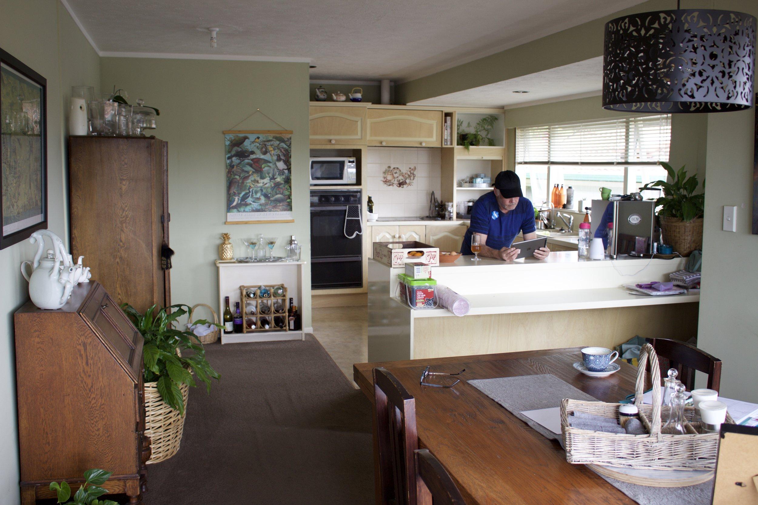 Kitchen- before renovation - December 2017