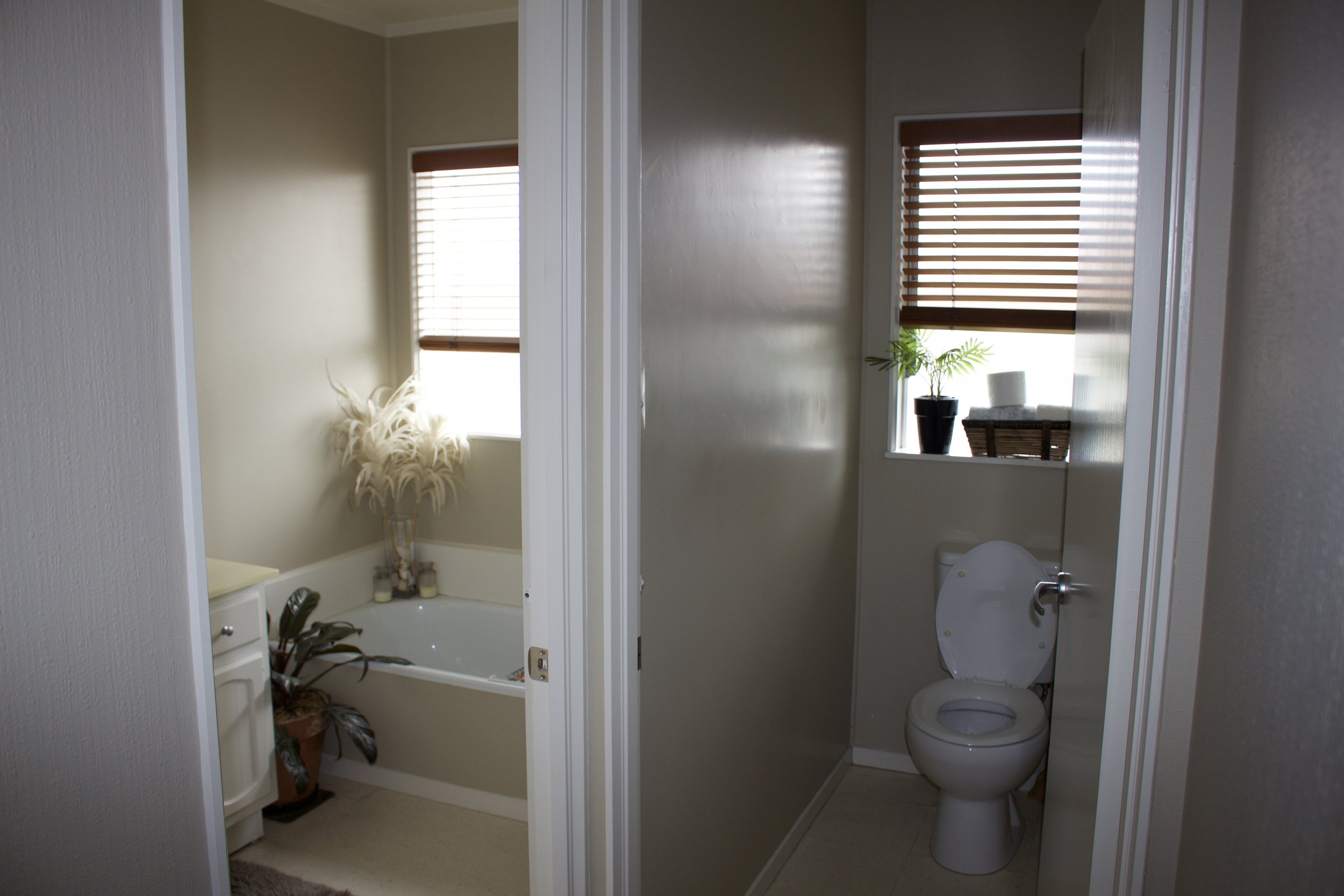 BEFORE  - Guest bathroom - separate bathroom and toilet
